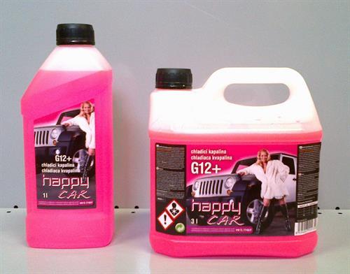 HAPPY CAR chladicí kapalina G12+