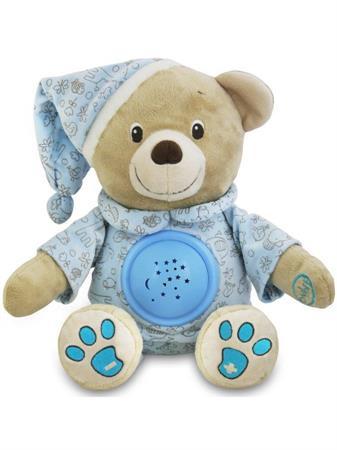 Plyšový medvídek s projektorem modrý