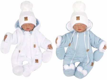 Oboustranná zimní kombinéza Bíla/modrá