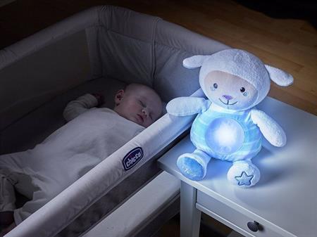 Ovečka s noční lampičkou modrá
