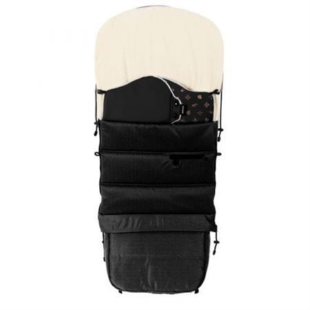 Luxusní zimní fusak do kočárku černý