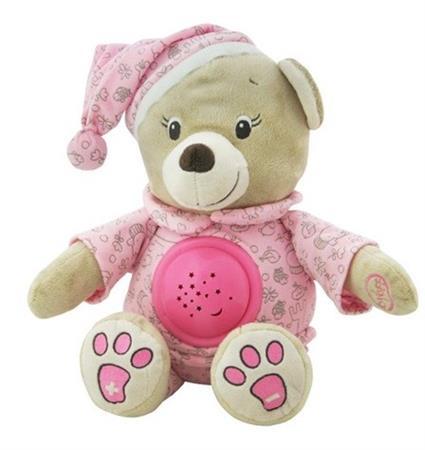 Plyšový medvídek s projektorem růžový