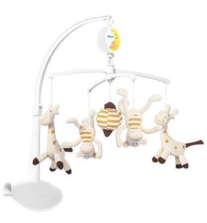 Plyšový kolotoč - Žirafa a opice