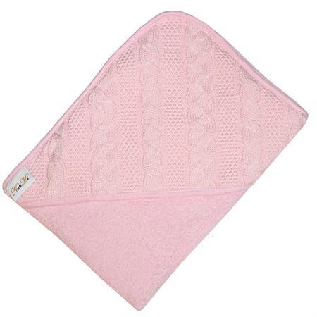 Dětská osuška MI Růžová pletená