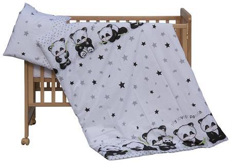 Dětské povlečení Panda - bílá