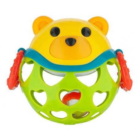 Interaktivní hračka míček s chrastítkem Zelená