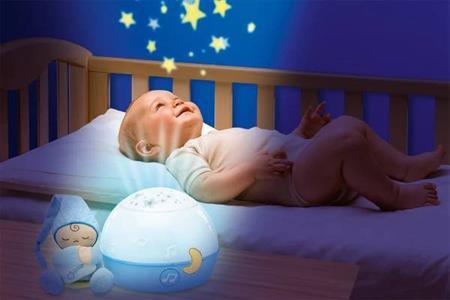Lampička noční obloha modrá