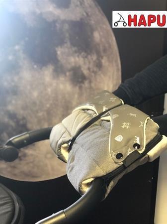 Luxusní rukávník na kočárek 2v1 šedý