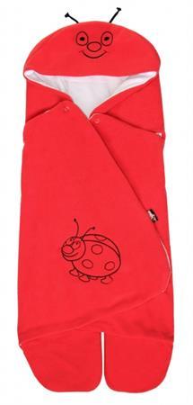 Zavinovačka do autosedačky letní s kapucí Beruška červená