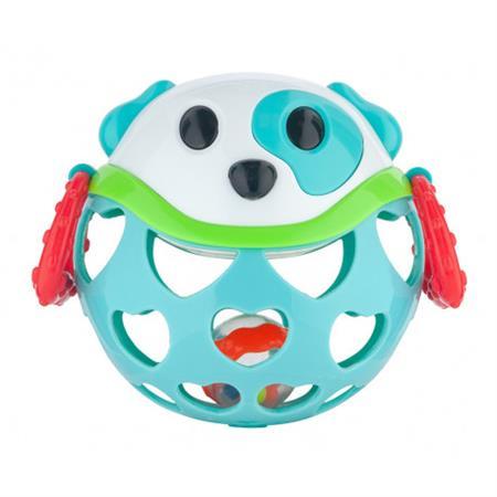 Interaktivní hračka míček s chrastítkem Modrá