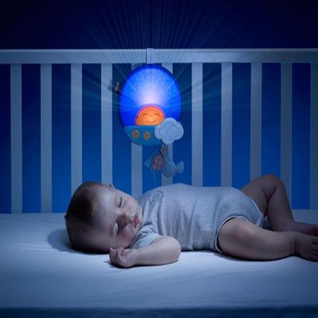 Projektor do postýlky s melodií Sluníčko - modré