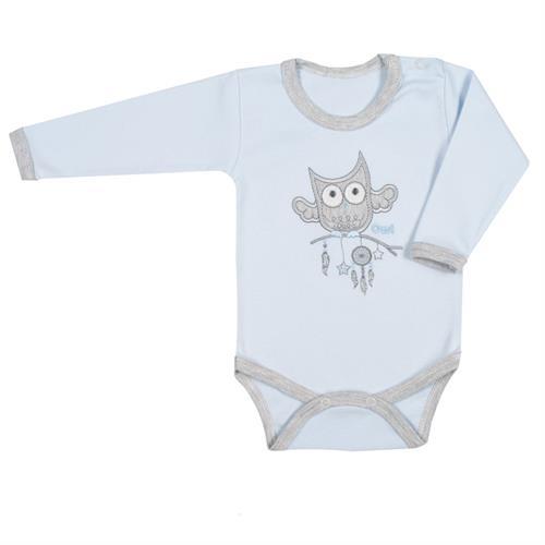 kojenecké body owl - modré