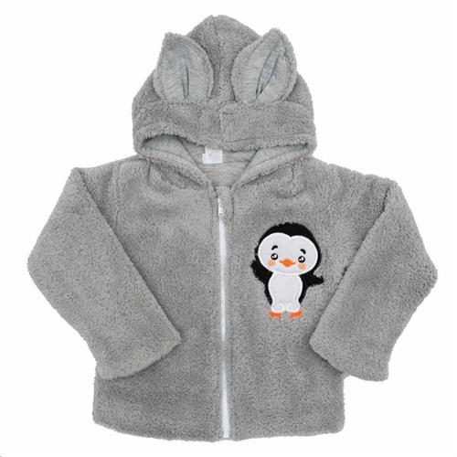 kojenecký zateplený kabátek - šedý