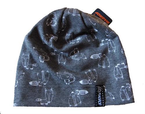 Dětská  bavlněná čepice s potiskem - zvířátka