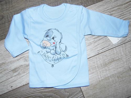 kojenecká košilka naše láska - modrá