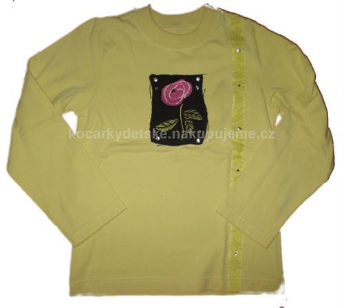 Dívčí triko s dlouhým rukávem DiD