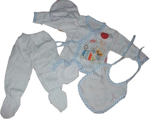 5 - dílná kojenecká souprava - modrá