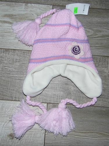 Dívčí zimní čepice - světle růžová