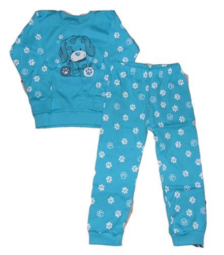 Dětské bavlněné pyžamo - tyrkys