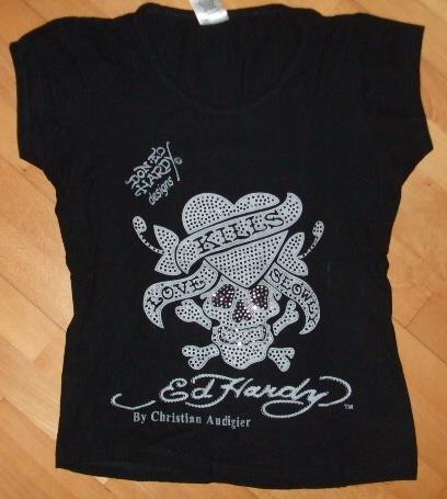 Dámské tričko Ed Hardy - POUŽITÉ
