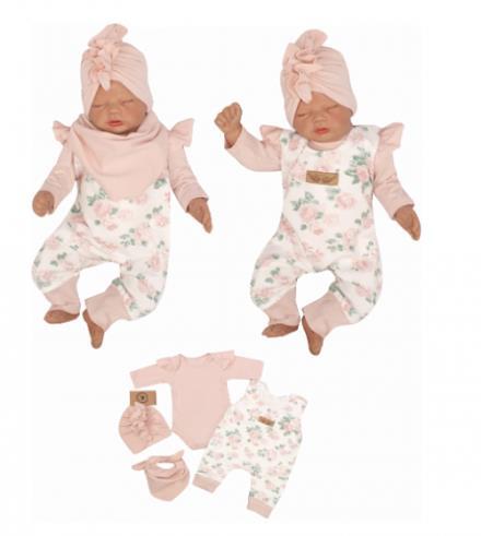 4 - dílná kojenecké souprava - růžová