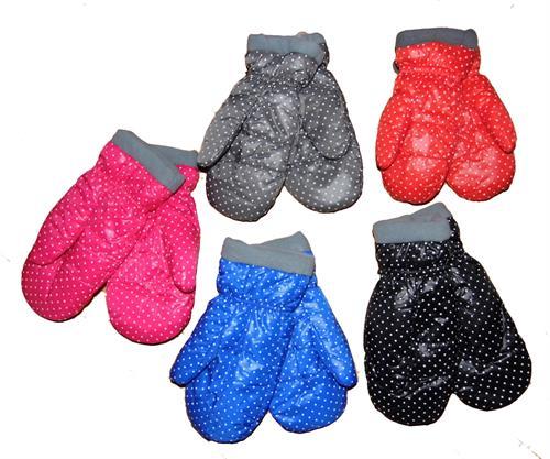 Zimní palcové rukavice - puntik