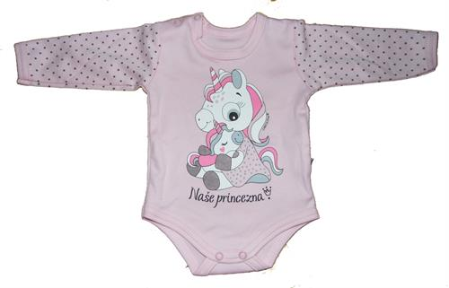 kojenecké body naše princezna - světle růžové