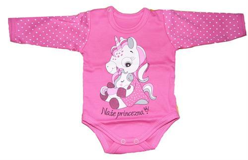 kojenecké body naše princezna - růžové