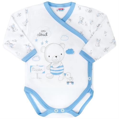 kojenecké body s bočním zapínáním - modré