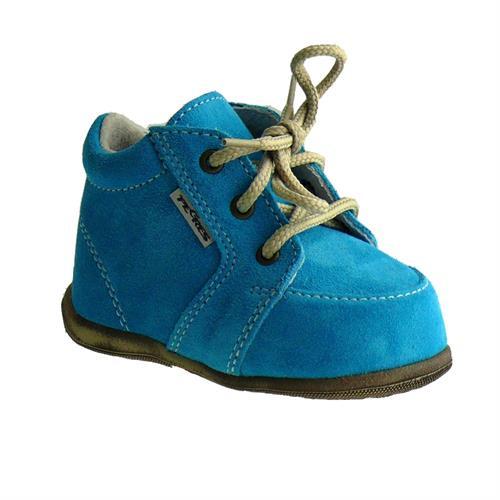 Dětské kožené capáčky Pegres - modré