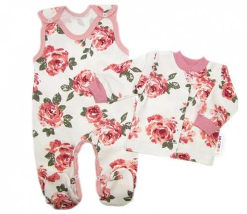 3 - dílná kojenecká souprava - růže