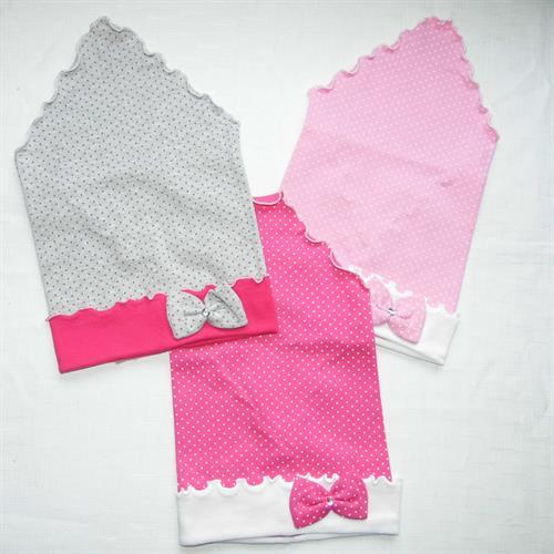 Dívčí šátek puntík - mašlička