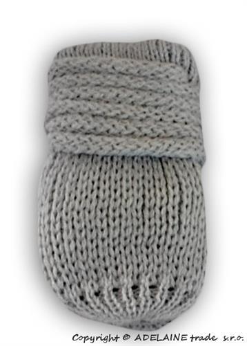 Kojenecké pletené rukavičky - šedé