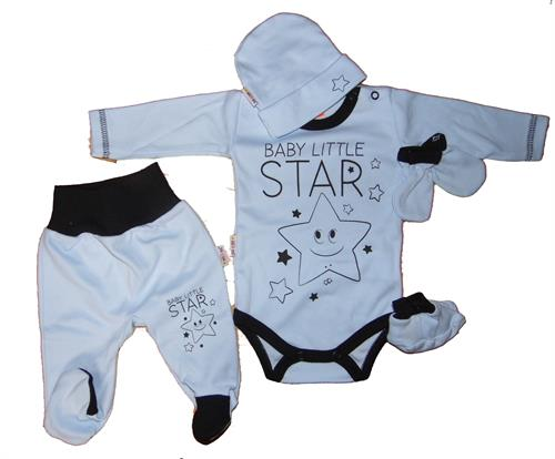 5 - dílná kojenecká souprava - modrá hvězdička
