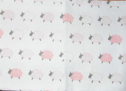 bavlněná tetra osuška - ovečka růžová