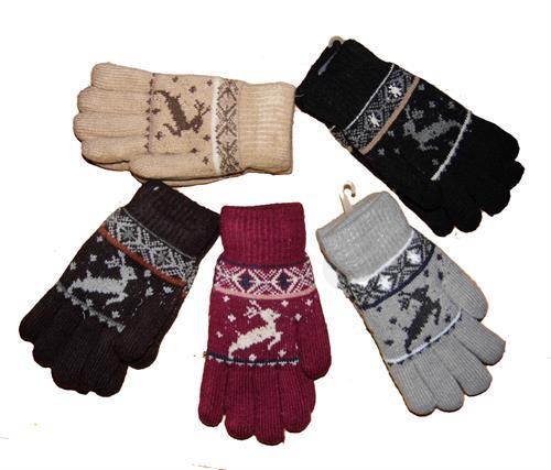 Zimní prstové rukavice - sob