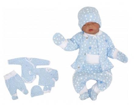 5 - dílná kojenecké souprava - hvězdička