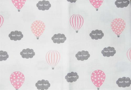 bavlněná tetra osuška - balon růžový