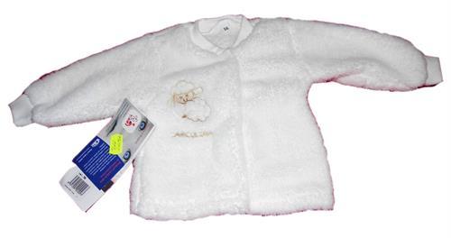 Kojenecký zateplený kabátek - bílý ovečka