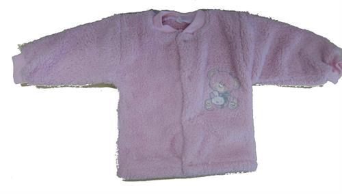 Kojenecký zateplený kabátek - růžový