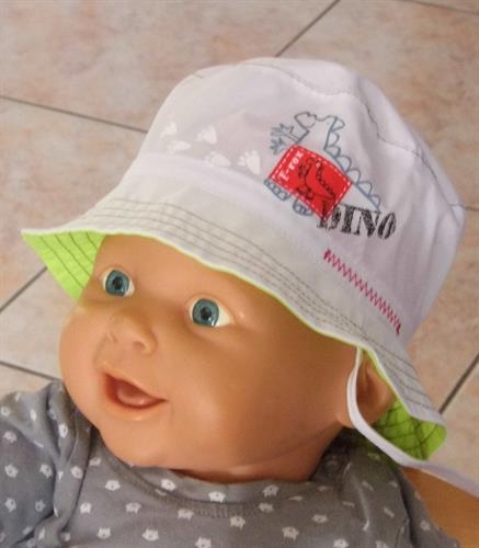 Bavlněný kojenecký klobouček dino