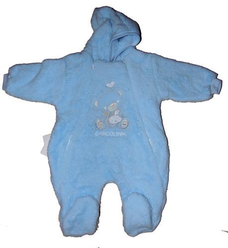 Kojenecký zateplený overal - modrý