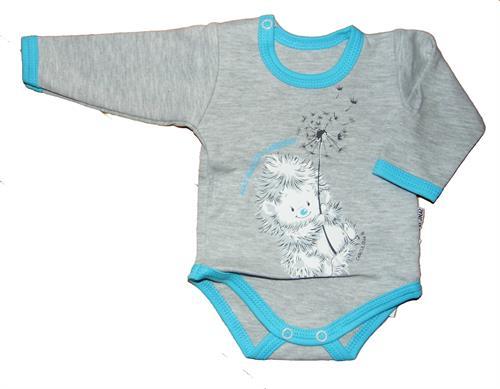 kojenecké body dáreček - šedé