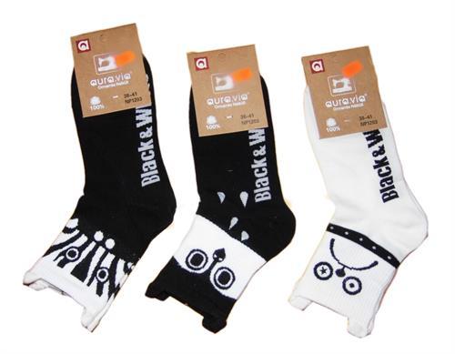 Dámské ponožky black & white