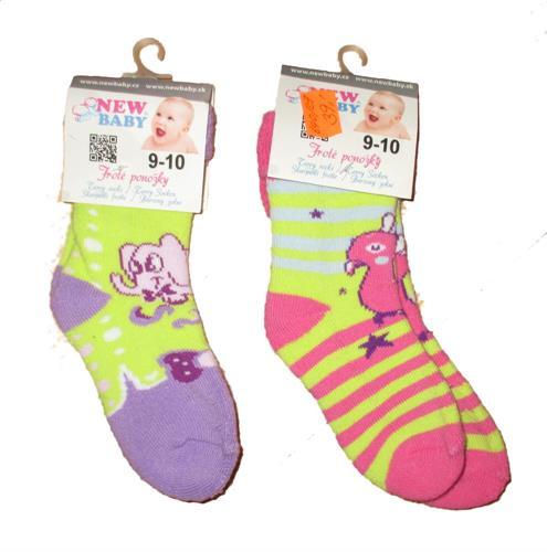 Kojenecké froté ponožky 9-10