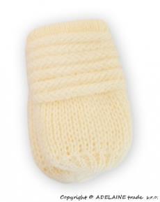 Kojenecké pletené rukavičky - smatanové