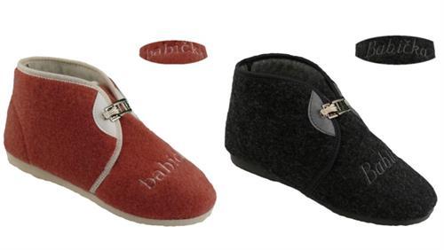 Domácí obuv - důchodky - lososové