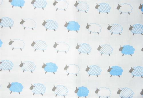 bavlněná tetra osuška - ovečka modrá