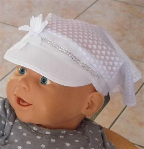 Dívčí bavlněný šátek - bílý