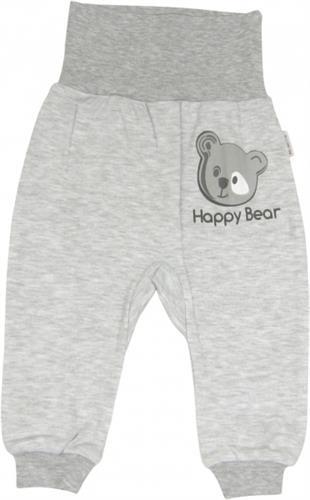 Bavlněné teplákové kalhoty - medvídek